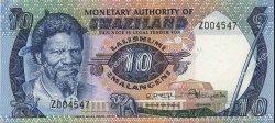 10 Emalangeni SWAZILAND  1974 P.04a NEUF