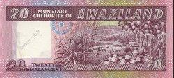 20 Emalangeni SWAZILAND  1974 P.05a pr.NEUF
