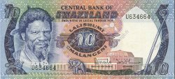 10 Emalangeni SWAZILAND  1984 P.10b pr.NEUF