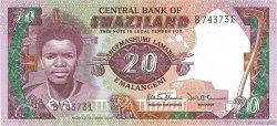 20 Emalangeni SWAZILAND  1986 P.12a NEUF