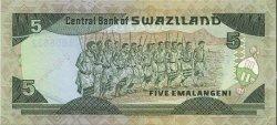 5 Emalangeni SWAZILAND  1987 P.14a NEUF
