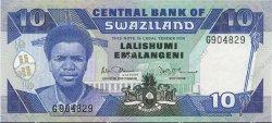 10 Emalangeni SWAZILAND  1986 P.15a NEUF