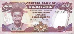20 Emalangeni SWAZILAND  1986 P.16a NEUF