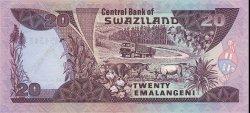 20 Emalangeni SWAZILAND  1989 P.17a NEUF