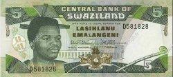 5 Emalangeni SWAZILAND  1990 P.19a NEUF