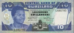 10 Emalangeni SWAZILAND  1990 P.20a NEUF