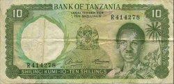 10 Shillings TANZANIE  1966 P.02a TB