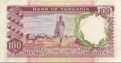 100 Shillings TANZANIE  1966 P.04a TTB