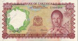 100 Shillings TANZANIE  1966 P.05a TTB+