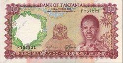 100 Shillings TANZANIE  1966 P.05b SUP