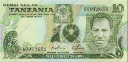 10 Shillings TANZANIE  1978 P.06c NEUF
