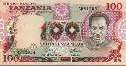 100 Shilingi TANZANIE  1977 P.08c NEUF