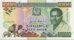 1000 Shillings TANZANIE  1990 P.22 pr.NEUF