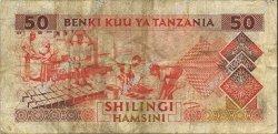 50 Shillings TANZANIE  1993 P.23 pr.TB