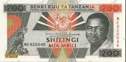200 Shillings TANZANIE  1993 P.25b NEUF