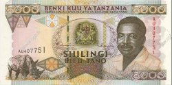 5000 Shillings TANZANIE  1995 P.28 NEUF