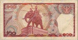 100 Baht THAÏLANDE  1978 P.089 TB+