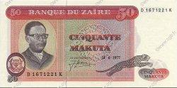 50 Makuta ZAÏRE  1977 P.16b pr.NEUF