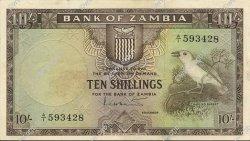 10 Shillings ZAMBIE  1964 P.01a TTB