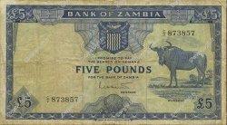 5 Pounds ZAMBIE  1964 P.03a pr.TB