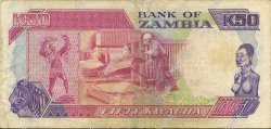 50 Kwacha ZAMBIE  1989 P.33a TTB