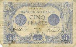 5 Francs BLEU FRANCE  1915 F.02.28 TB+