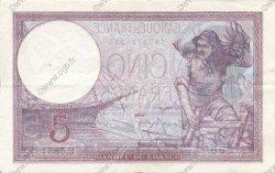 5 Francs VIOLET modifié FRANCE  1939 F.04.02 TTB à SUP