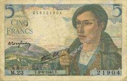 5 Francs BERGER FRANCE  1943 F.05.01 pr.TTB