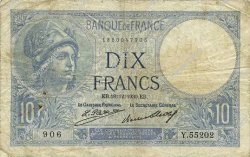 10 Francs MINERVE FRANCE  1930 F.06.14 TB