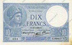 10 Francs MINERVE modifié FRANCE  1939 F.07.03 pr.SPL