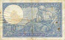 10 Francs MINERVE modifié FRANCE  1939 F.07.08 TB+