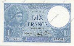 10 Francs MINERVE modifié FRANCE  1939 F.07.12 SPL+