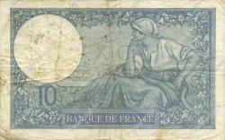 10 Francs MINERVE modifié FRANCE  1939 F.07.13 TB+