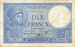 10 Francs MINERVE modifié FRANCE  1939 F.07.08 TTB+