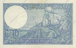 10 Francs MINERVE modifié FRANCE  1939 F.07.09 SUP+
