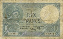 10 Francs MINERVE modifié FRANCE  1939 F.07.14 B