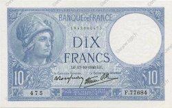 10 Francs MINERVE modifié FRANCE  1940 F.07.17 SPL