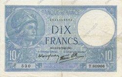 10 Francs MINERVE modifié FRANCE  1940 F.07.23 TTB+