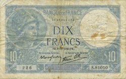 10 Francs MINERVE modifié FRANCE  1940 F.07.23 B