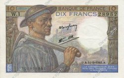 10 Francs MINEUR FRANCE  1941 F.08.01 SUP+