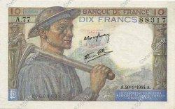 10 Francs MINEUR FRANCE  1944 F.08.11 pr.SPL
