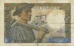 10 Francs MINEUR FRANCE  1945 F.08.14 TB+