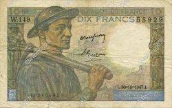 10 Francs MINEUR FRANCE  1947 F.08.18 TB+