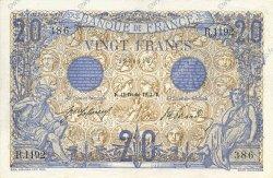20 Francs BLEU FRANCE  1912 F.10.02