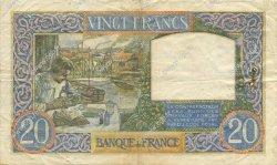 20 Francs SCIENCE ET TRAVAIL FRANCE  1940 F.12.08 TB+