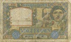 20 Francs SCIENCE ET TRAVAIL FRANCE  1940 F.12.09 pr.B