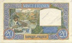 20 Francs SCIENCE ET TRAVAIL FRANCE  1940 F.12.09 SUP