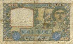 20 Francs SCIENCE ET TRAVAIL FRANCE  1940 F.12.09 B+