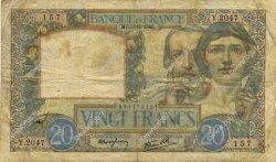 20 Francs SCIENCE ET TRAVAIL FRANCE  1940 F.12.10 TB