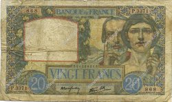 20 Francs SCIENCE ET TRAVAIL FRANCE  1941 F.12.13 B